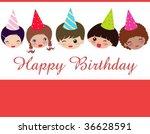 birthday card | Shutterstock .eps vector #36628591