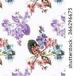 spring flowers budget pattern 4 | Shutterstock . vector #366296675