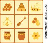 honey icons set. vector eps 10. | Shutterstock .eps vector #366319322