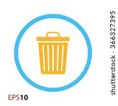 trash bin icon for web and... | Shutterstock .eps vector #366327395