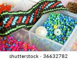 Box With Shiny Colorful Beads