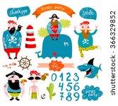 vector set of illustrations for ... | Shutterstock .eps vector #366329852