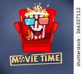 popcorn character design... | Shutterstock .eps vector #366337112