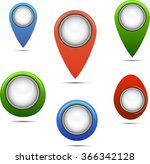 button and arrows for a web... | Shutterstock .eps vector #366342128
