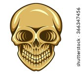 vector illustration of skull | Shutterstock .eps vector #366347456