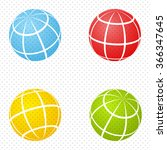 set of color globes. abstract... | Shutterstock .eps vector #366347645