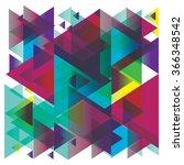 pattern of geometric shapes.... | Shutterstock .eps vector #366348542