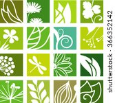 abstract natural icons | Shutterstock .eps vector #366352142