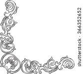 ornate victorian corner... | Shutterstock .eps vector #366352652