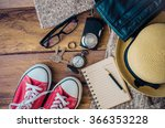 travel accessories costumes and ... | Shutterstock . vector #366353228
