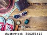 travel accessories costumes ... | Shutterstock . vector #366358616