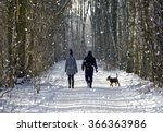 Couple In The Winter Woods On ...