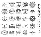 retro vintage logotypes or... | Shutterstock .eps vector #366413372