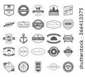 retro vintage logotypes or... | Shutterstock .eps vector #366413375