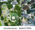 top view of some buildings in... | Shutterstock . vector #366417896