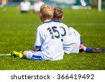 young boys watching football... | Shutterstock . vector #366419492