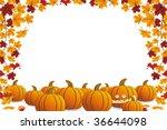 halloween frame with pumpkin... | Shutterstock .eps vector #36644098