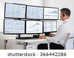 side view of stock market... | Shutterstock . vector #366442286