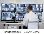 rear view of security system... | Shutterstock . vector #366442292