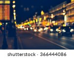 night city life  car and street ... | Shutterstock . vector #366444086