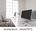 a row of working places with... | Shutterstock . vector #366447872