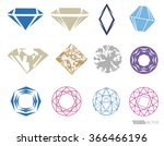 color diamond illustration... | Shutterstock .eps vector #366466196