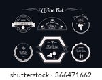wine badges  logos and labels.  ... | Shutterstock .eps vector #366471662
