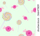 seamless candy background  ... | Shutterstock .eps vector #36647809