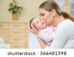 loving nursing mother holding... | Shutterstock . vector #366481598