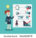 successful smiling business... | Shutterstock .eps vector #366483878