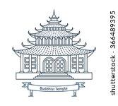 buddhist temple  monastery.... | Shutterstock .eps vector #366489395
