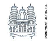 hindu temple. hinduism symbol....   Shutterstock .eps vector #366489416