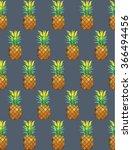 pineapple tropical pattern | Shutterstock .eps vector #366494456