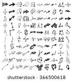 vector hand drawn arrows set... | Shutterstock .eps vector #366500618