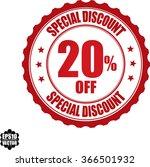 special discount 20  off stamp...   Shutterstock .eps vector #366501932