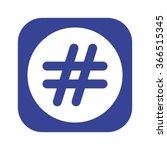 hashtags icon  vector... | Shutterstock .eps vector #366515345