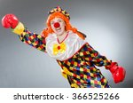 clown with boxing gloves... | Shutterstock . vector #366525266