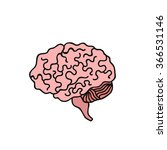 doodle icon. human brain.... | Shutterstock .eps vector #366531146