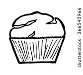 muffin on white background.... | Shutterstock .eps vector #366545966