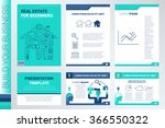 real estate book cover and... | Shutterstock .eps vector #366550322