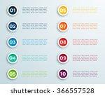 number bullet points vector 2 | Shutterstock .eps vector #366557528