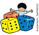 boy and dice  vector... | Shutterstock .eps vector #366560312