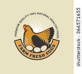 Fresh Farm Eggs. Vector Logo ...