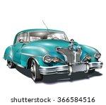 retro car. | Shutterstock .eps vector #366584516