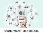 predictive analytics and big... | Shutterstock . vector #366588536