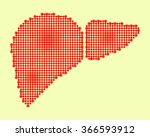 abstract drawing of a liver | Shutterstock . vector #366593912