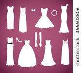 different styles wedding... | Shutterstock . vector #366603806