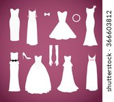 different styles wedding... | Shutterstock .eps vector #366603812