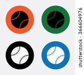 baseball sport icon | Shutterstock .eps vector #366604976