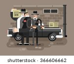 mafia man character | Shutterstock .eps vector #366606662